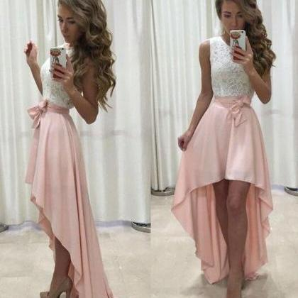 Stylish High Low Homecoming Dress,L..