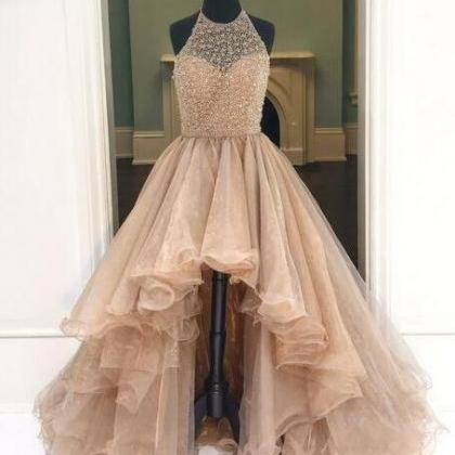 Sexy High-Low Beading Prom Dress,Ch..