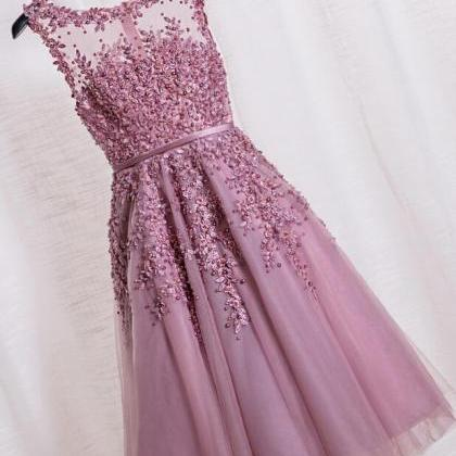 Elegant Scoop Tea Length Homecoming..
