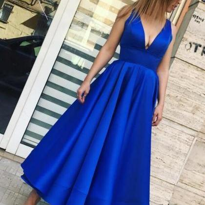 Sexy Stain Prom Dress,Royal Blue Pr..