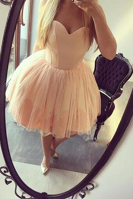 Short Tulle Homecoming Gown, Junior Homecoming Dresses, Short Prom Dress, Puffy Party Dress, Sexy Sweetheart Homecoming Gowns