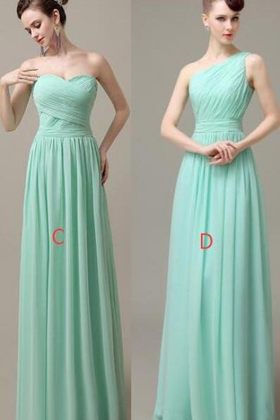 Chiffon Bridesmaid Dresses,Simple A-line Bridesmaid Dresses,Handmade Bridesmaid Dress For Wedding Bridesmaid Gowns