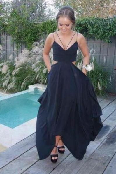 High Quality Prom Dress,Custom Made Spaghetti Straps Cheap Prom Dress,Sleeveless Prom Dress,Floor Length Party Dress