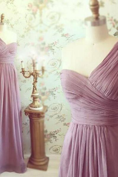 One Shoulder Bridemsaid Dress,Long Chiffon Prom Dress ,Long Bridesmaid Dresses