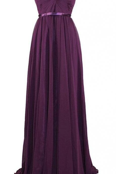 Strapless Sweetheart Bridesmaid Dress,Pleated Evening Prom Dress,2017 Bridesmaid Dresses