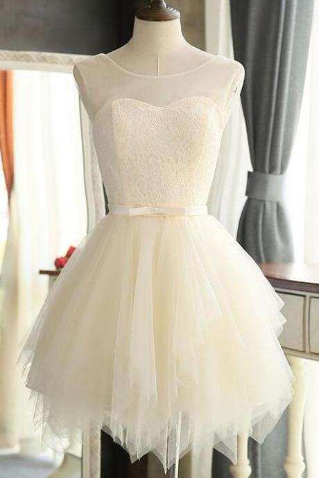 Simple Short Prom Dresses,Graduation Dress,Party Dress,Short Homecoming Dress,Ivory Homecoming Dresses,Lace Homecoming Dress