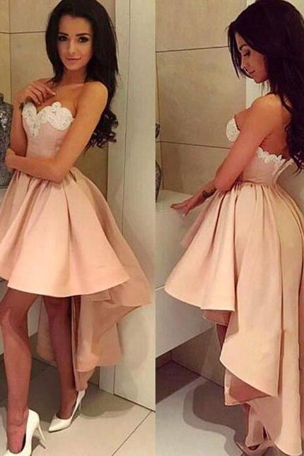 A Line Pink Prom Dress,Short Prom Dress,Sweetheart Homecoming Dress,Sexy Party Dress,Short Evening Dress,Homecoming Dress