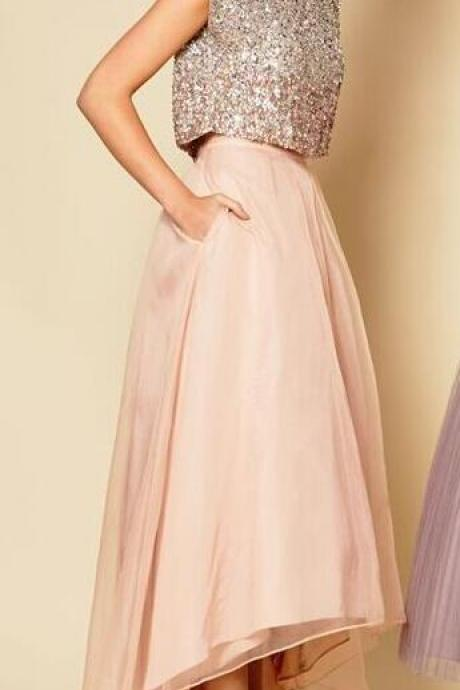 Sexy Two Piece Prom Dress ,Cheap Prom Dress,Dress for prom,Women Clothing Prom Dress