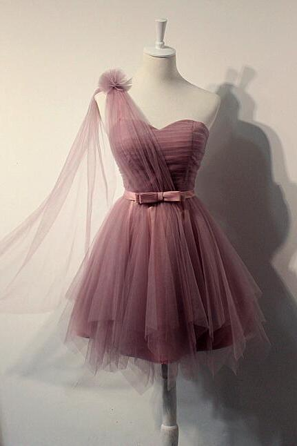 Charming Tulle Homecoming Dress,SHort Prom Dress,Pleat Homecoming Dress,Cute Homecoming Dress,Graduation Dress