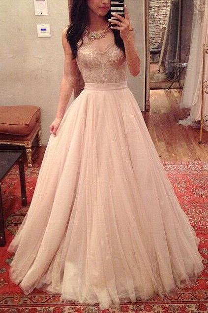 Spaghetti Straps Prom Dress,Charming Prom Dress,A-Line Prom Dress,Noble Prom Dress,Tulle Prom Dress