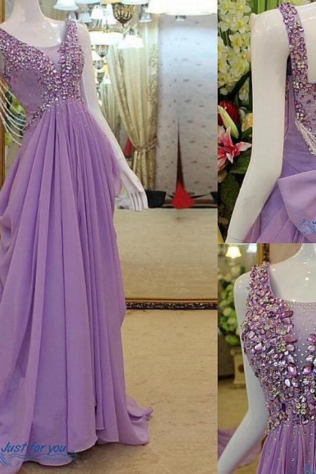 Custom New Fashion Prom Dress,Luxury Prom Dress,Sexy Prom Dress,A Line Prom Dress,Beaded Prom Dress,Unique Prom Dress,Sequins Prom Dress,Long Prom Dress,Lavender Prom Dress,Chiffon Prom Dress,Dress for Prom
