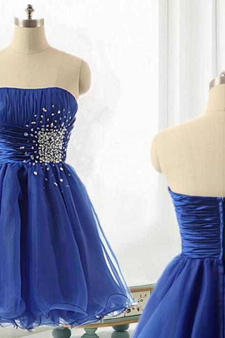 Royal Blue Short Tulle Homecoming Dress, Cheap Prom Dress,Party Dress, Cocktail Dress