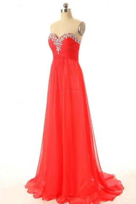 Sexy Long Prom Dress,Chiffon Prom Dress,Crystals Prom Dresses,Cheap Prom Dress