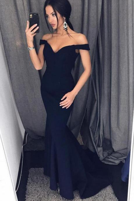 Stain Bridesmaid Dress,Cheap Bridesmaid Dress,Off Shoulder Bridesmaid Dresses,Navy Blue Bridesmaid Dresses,Sexy Long Evening Gowns,Mermaid Prom Dresses 2017
