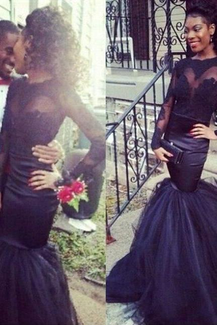 Mermaid Prom/Evening Dress, Full Sleeves Prom Dress, Cheap Mermaid Party Dress, Gorgeous Show Dress, Evening Gown, Prom Gown