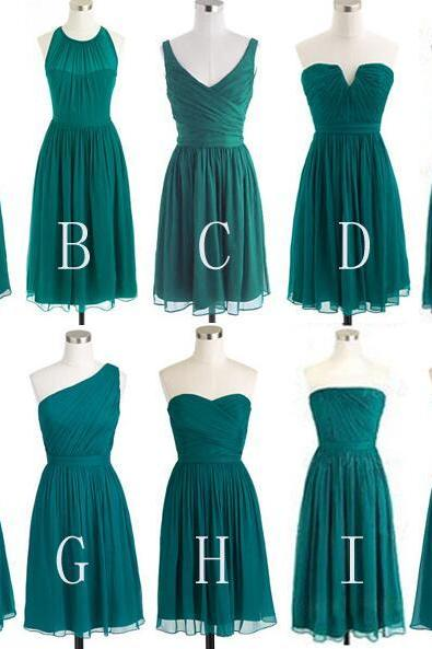 Charming Bridesmaid Dress,Sexy Bridesmaid Dress,Cheap Chiffon Bridesmaid Dresses,Simple Short Bridesmaid Dress