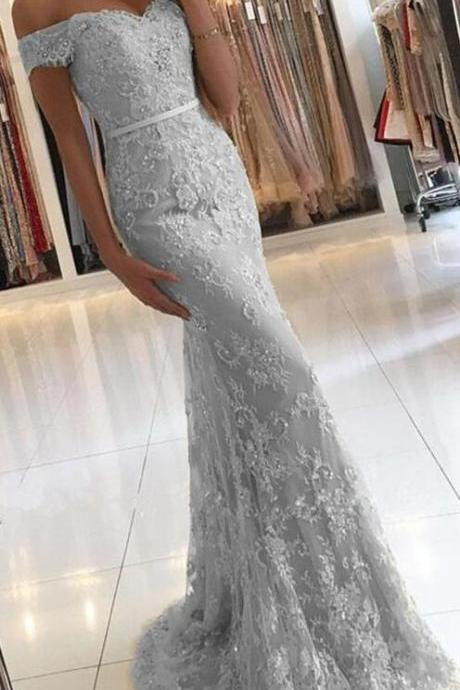 Sexy Mermaid Prom Dresses,Off the Shoulder Prom Dresses,Long Eveing Dress,Grey Prom Dresses,Prom Dresses for Women,Prom Dresses for Teens,Charming Prom Dresses,Dresses for Weddings