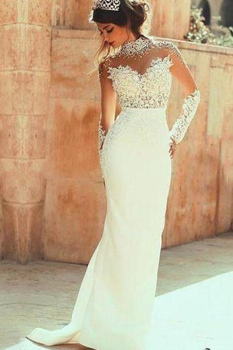 Lace Wedding Dress,Cheap Wedding Dress,Bridal Gown,Stain Wedding Dress,A Line Wedding Gown