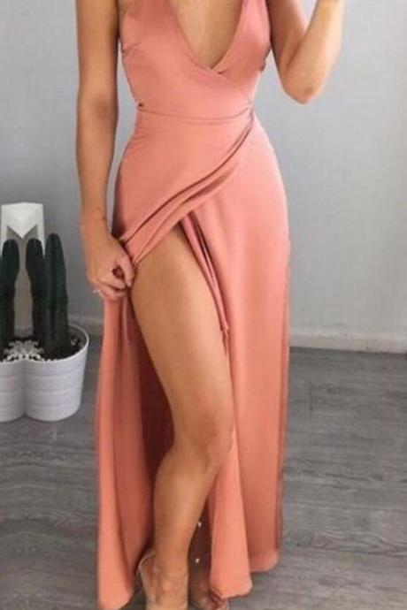 Blush pink Prom Dress,Long Prom Gown,CheapProm Dress,Pink Prom Gown,Elegant Evening Dress,Evening Gowns,Party Gowns