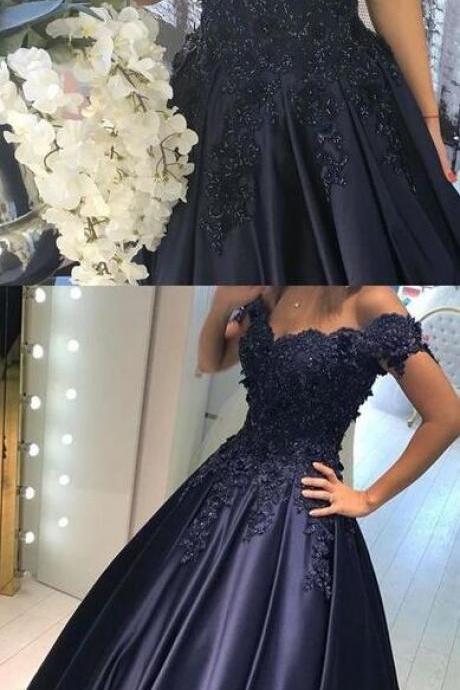 Off The Shoulder Prom Dress,Top Lace Prom Dress,Sexy Prom Dress,Cheap Evening Dress,Appliques Prom Dress,A-Line Prom Dress,Long Prom Dress,Evening Dress
