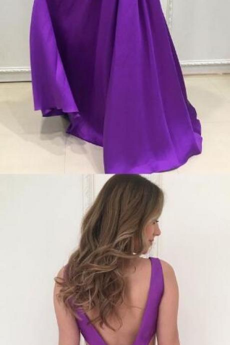 A-Line Backless Prom Dresses,Long Prom Dresses,V-Neck Prom Dress,Stain Prom Dress,Cheap Prom Dresses, Evening Dress Prom Gowns, Formal Women Dress