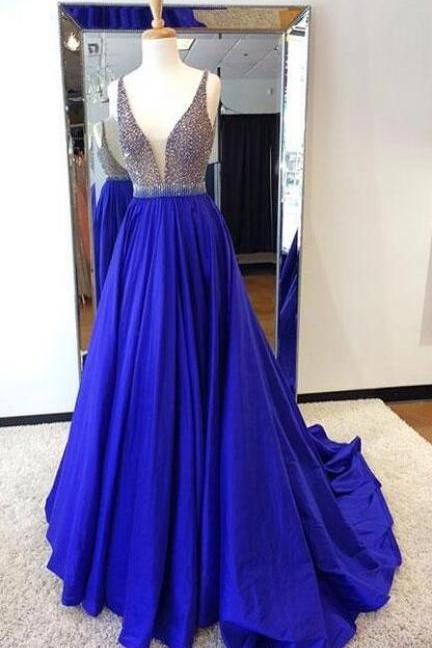 Beading Prom Dress,Royal Blue Prom Dress,Cheap Prom Dress,Long Prom Dresses,Prom Dresses,Evening Dress, Evening Dresses,Prom Gowns, Formal Women Dress