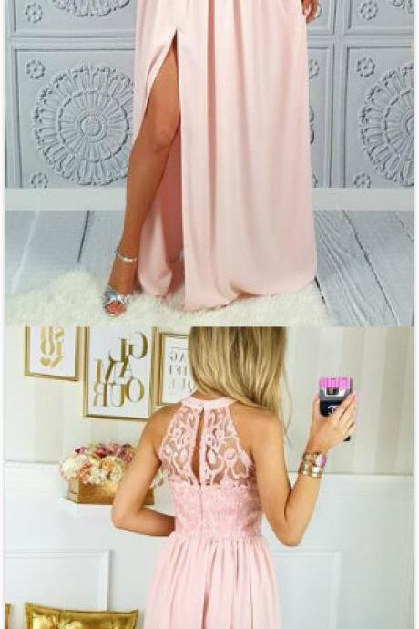 Long Prom Dresses,Chiffon Prom Dresses,Lace Prom Dress,Sexy Evening Dress, Prom Gowns, Formal Women Dress,prom dress
