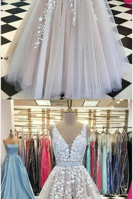 Sexy V Neck Lace prom dresses, long Prom Dress,Cheap Prom Dress,prom dresses modest,beautiful prom dresses,prom dresses sexy,gorgeous prom dresses
