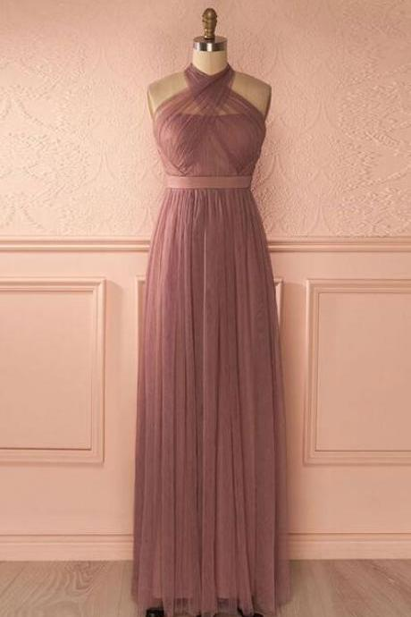 Cute tulle Prom Dress,Long Prom Dress,Cheap prom Dress,Chiffon prom Dress,A-line long prom dress, Long bridesmaid dress