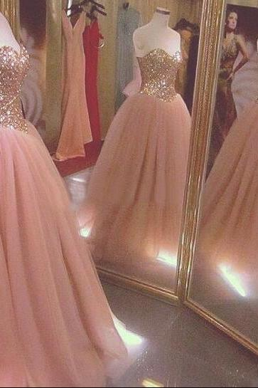 Tulle Prom Dress,Simple Prom Dress,Blush Pink Prom Dresses,Ball Gown Prom Dress,Tulle Prom Dress,Simple Evening Gowns,Cheap Party Dress,Elegant Prom Dresses,2016 Formal Gowns For Teens