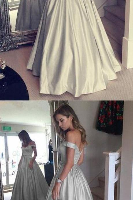 V-neck Prom Dress,Sexy Prom Dress,Satin Prom Dress,Long Prom Dresses ,Off-the-shoulder Prom Dress,Sexy Evening Gowns
