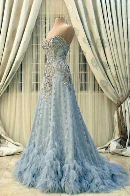 New Arrival Prom Dress,Modest Prom Dress,Prom Dresses,Party Dresses,Flower wedding dress,blue wedding dress,blue wedding dress,wedding dress