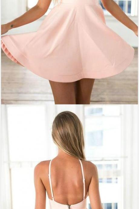 Short Pink Homecoming Dress,Sexy Homecoming Dress,Cheap Homecoming Dress,Short Prom Dress,Party Dress