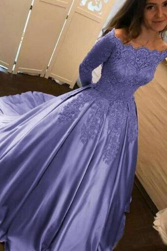 lavender prom dress,lace prom dress,stain prom dress,lavender quinceanera dress,wedding gown