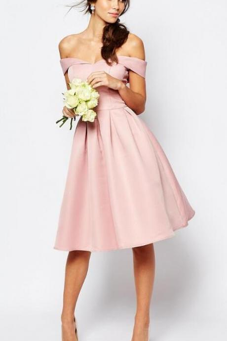 Blush Pink Homecoming Dress,Knee Length Prom Gown,Sexy Homecoming Dress,Short PromDress,Blush Pink Sweet 16 Dress,Homecoming Dress,Cocktail Dress,Evening Gowns