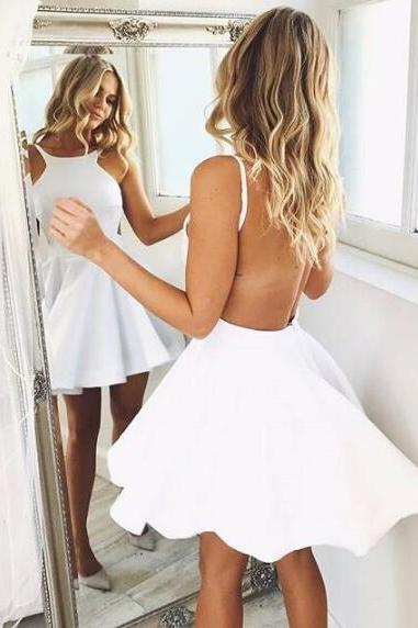 Open Back Homecoming Dress,Cute Halter Homecoming Dress,Sexy Prom Dress,A Line Homecoming Dresses,Short Party Dresses