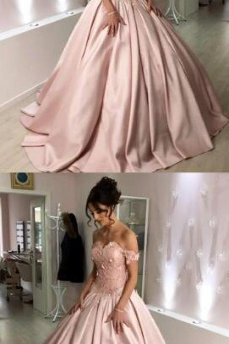 Sweetheart Off The Shoulder Prom Dress,Stain Prom Dress,Cheap Prom Dress,Ball Gowns Wedding Dresses