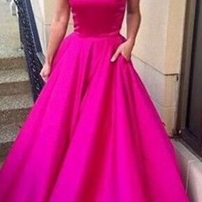 Sexy prom Dress,Cheap Off Shoulder Prom Dresses with Pockets Evening Gown