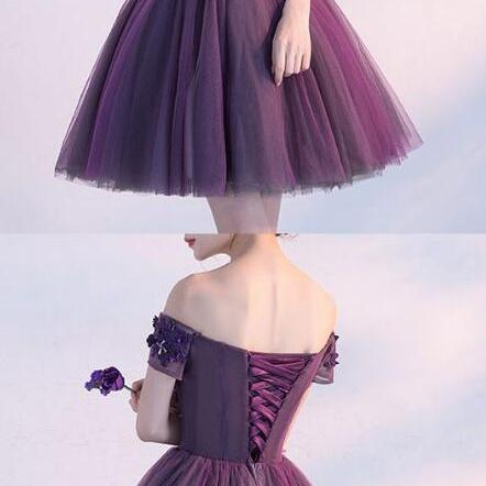 Sexy Off Shoulder Homecoming Dress,Tulle Prom Dress,Sexy Prom Dress,Charming Homecoming Dress, Women's Prom Dress, Short Party Dresses, Homecoming Dresses 2018
