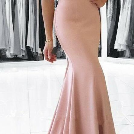 elegant long prom dress,pearl pink prom dress,cheap prom dress,mermaid prom dresses,elegant formal evening dress,off the shoulder party dress