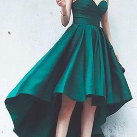 High-low Prom Dress,Short Prom Dress,Sweetheart Prom Evening Party Dress with Ruffle,High-low Prom Party Dress